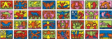 Ravensburger Puzzle 17838: Keith Haring: Double Retrospect