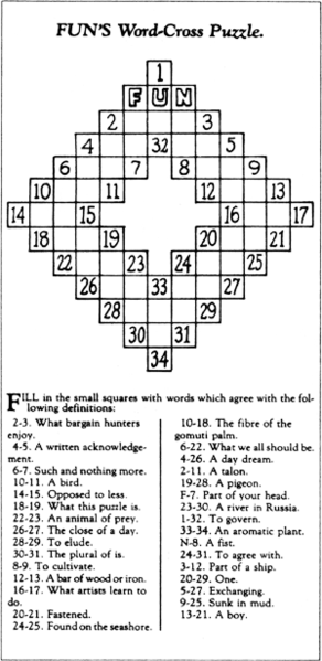 FIRST CROSSWORD PUZZLE First Crossword Puzzle
